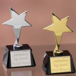 Small Stars with Glass Bases Achievement Awards