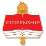 Citizenship Lapel Pin Chenille Lapel Pins