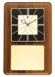 American Walnut Wall Clock with Black & Gold Face Employee Awards